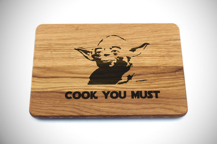 Yoda Cook You Must Cutting Board