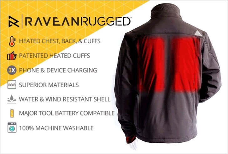 Wind And Water Resistant Heated Jacket