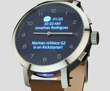 mVoice G2 Analog Smartwatch