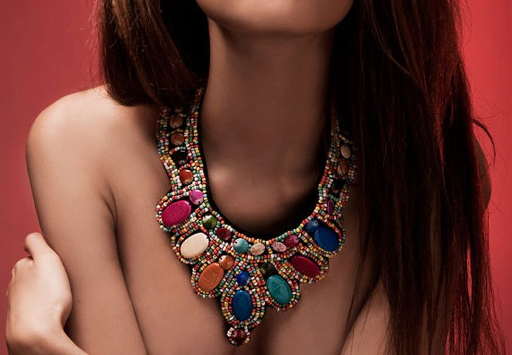 Bold Colorful Stone Tribal Necklace