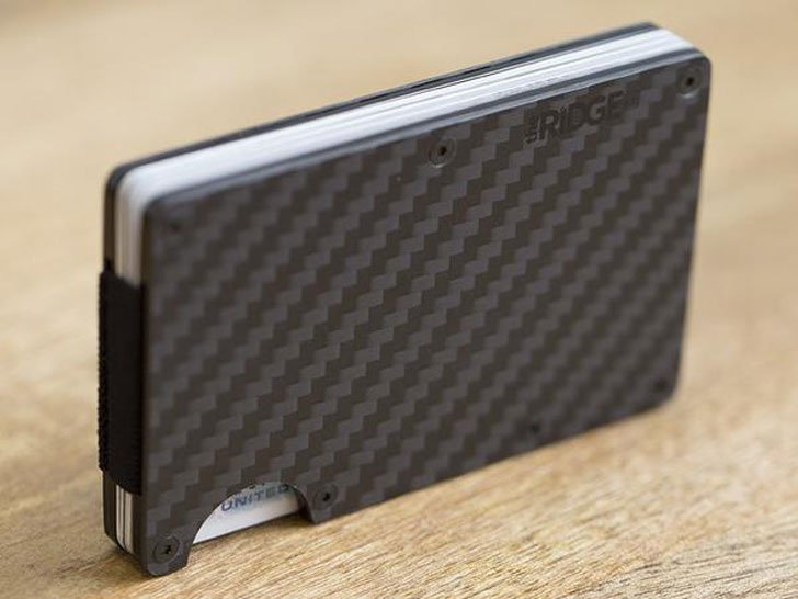Carbon Fiber Cash Strap Wallet