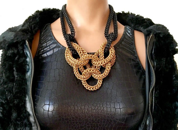 Chainmail Statement Necklace