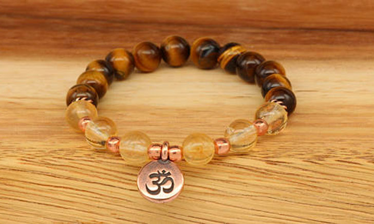 Citrine & Tiger Eye Protection Bracelet
