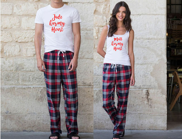 Couples Matching Personalised PJs