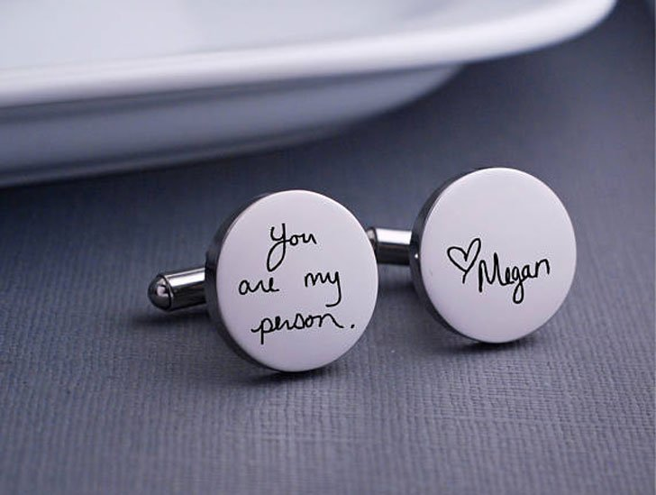 Custom Handwritten Personalised Cufflinks