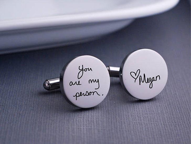 Custom Handwritten Personalised Cufflinks