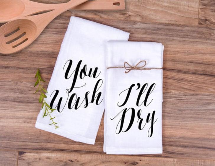 Cute You Wash i'll Dry Kitchen Towel Set