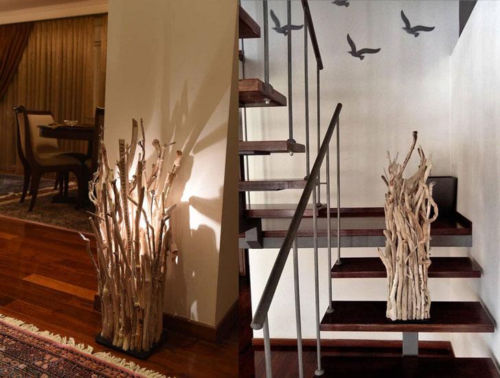 Driftwood Floor Lamps
