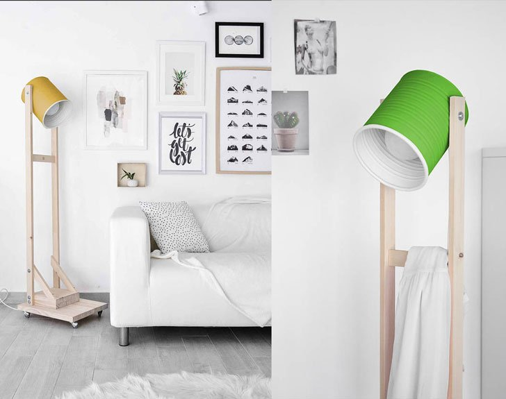 Eco-friendly Handmade Industrial Floor Lamps