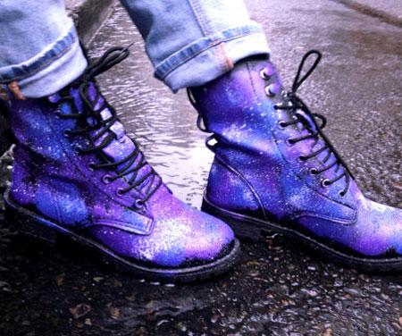 Galaxy Combat Boots