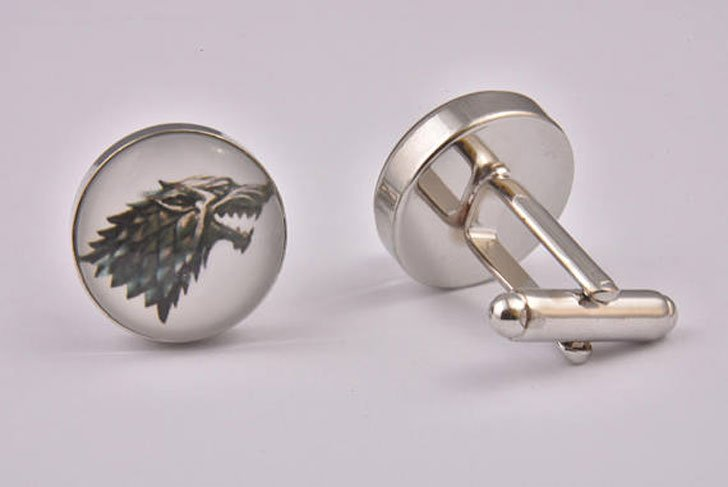 Game Of Thrones House Stark Cufflinks - cool cufflinks