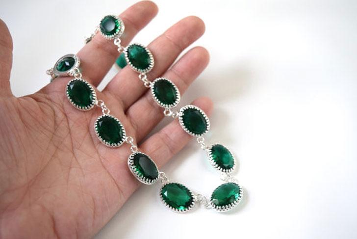Green Swarovski Crystal Regency Necklace