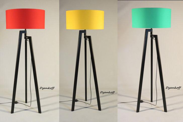Handmade Tripod Floor Lamps - cool floor lamps
