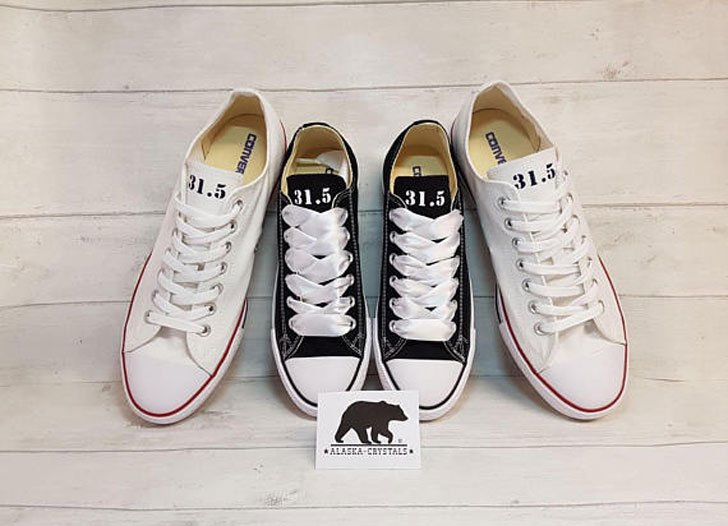 His and Her Matching Converse Shoes