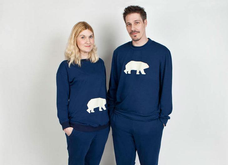 His and Hers Polar Bear Pyjamas