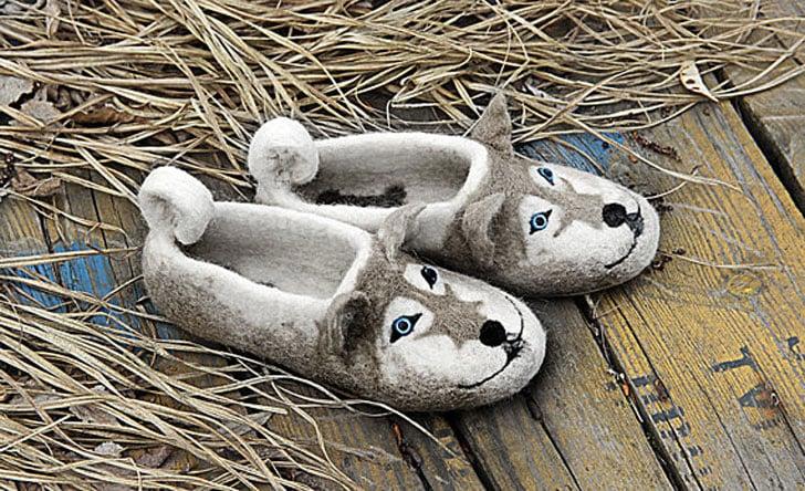 Husky Dog Slippers