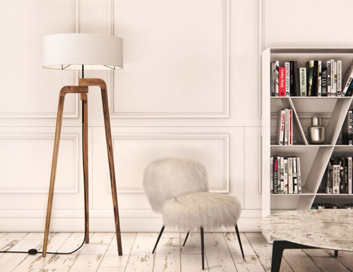 Iris Modern Wooden Tripod Floor Lamp - cool floor lamps