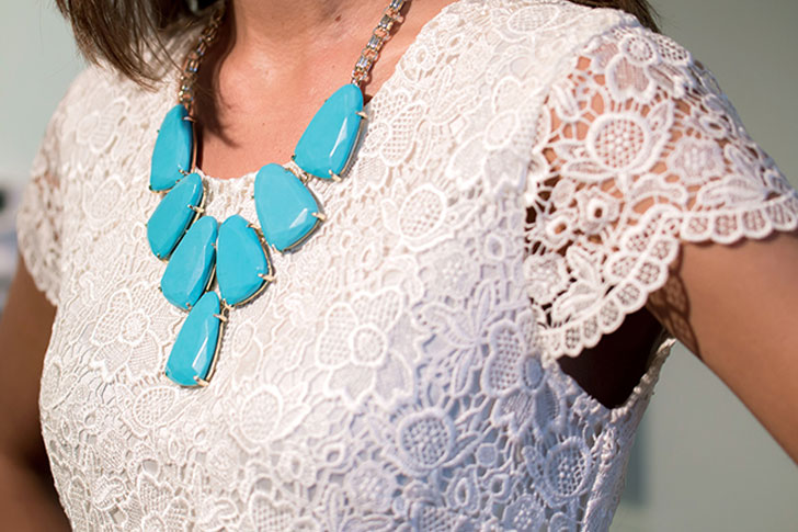 Kendra Scott Harlow Turquoise Statement Necklace