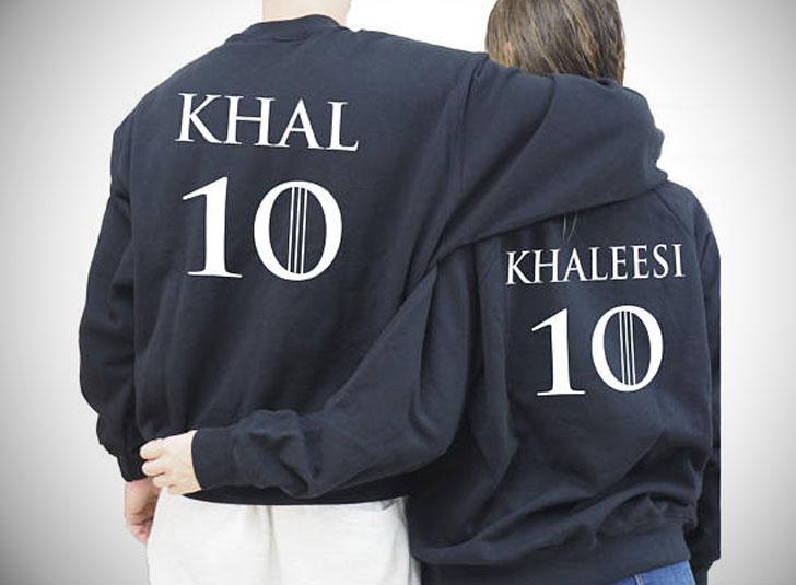 Khaleesi Khal Sweatshirts for Couples