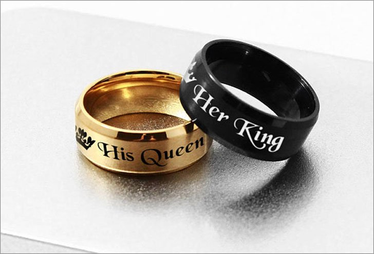 King And Queen Promise Rings For Couples