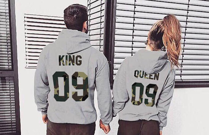 King and Queen Couples Hoodies