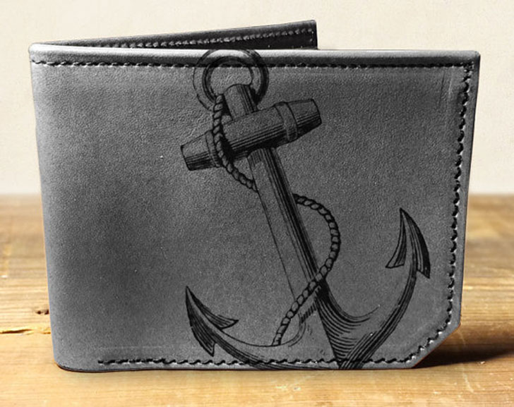 Leather Anchor Wallet