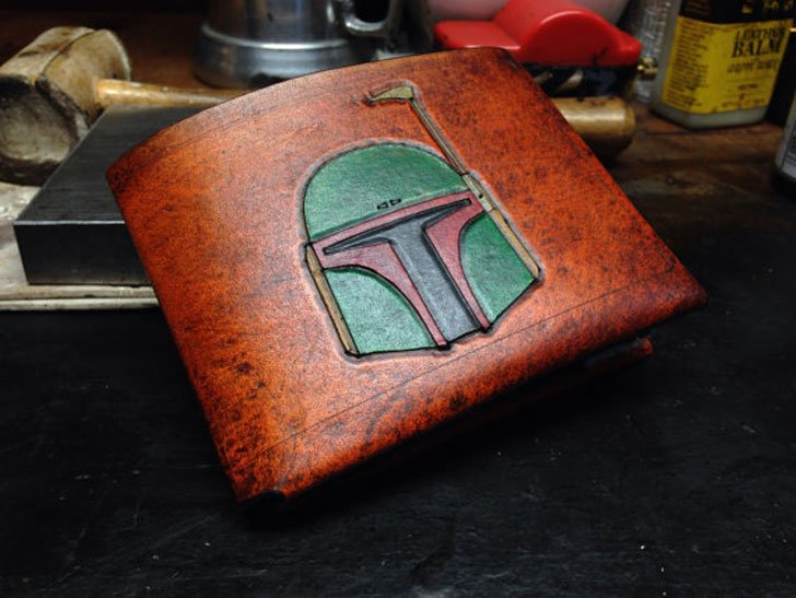 Leather Boba Fett Star Wars Wallet - Cool Wallets