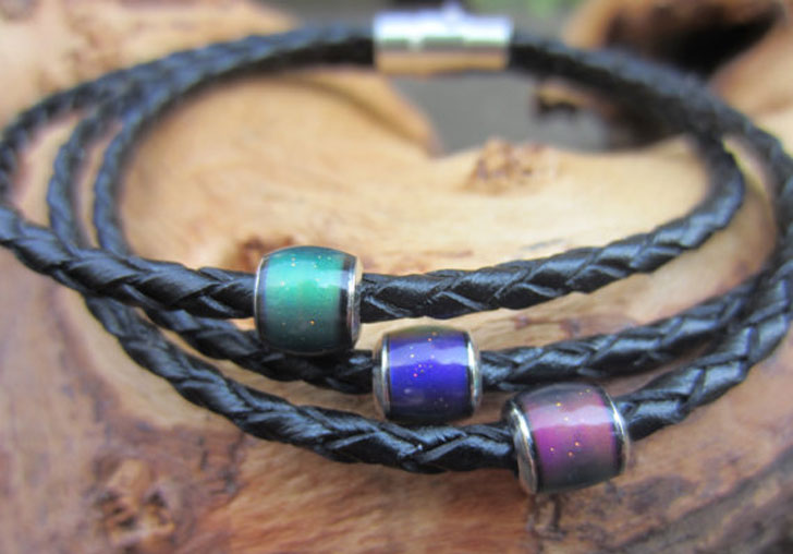 Leather Mood Bracelet