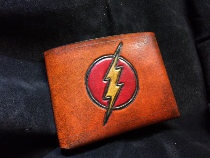 Leather The Flash Wallet - Cool Wallets