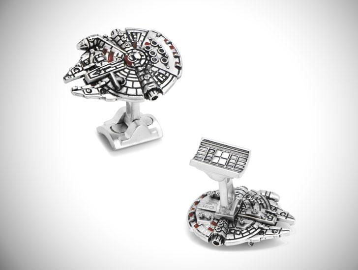 Luxe Millennium Falcon Cufflinks - cool cufflinks