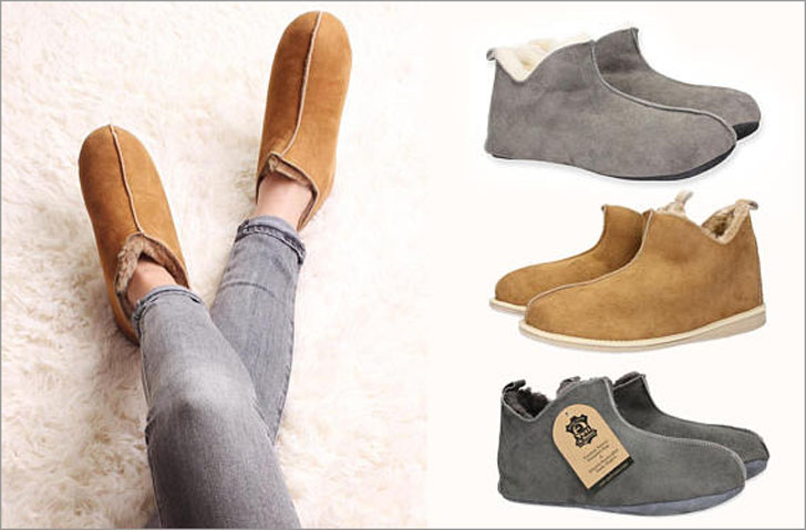 Luxury Handcrafted Mens & Womens Sheepskin Boot Slippers