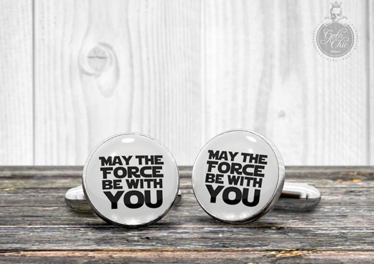 """""""May the FORCE be with you"""" Cufflinks - cool cufflinks"""