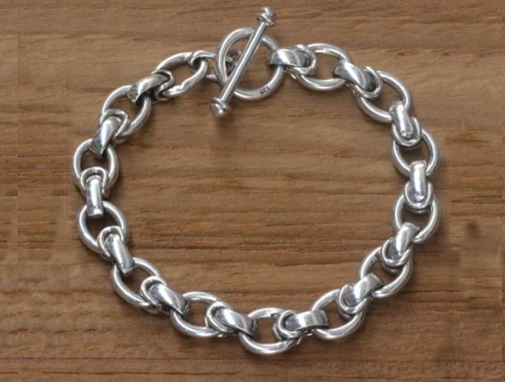 Men's Brave Knight Sterling Silver Link Bracelet