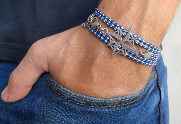 Men's Compass Bracelet