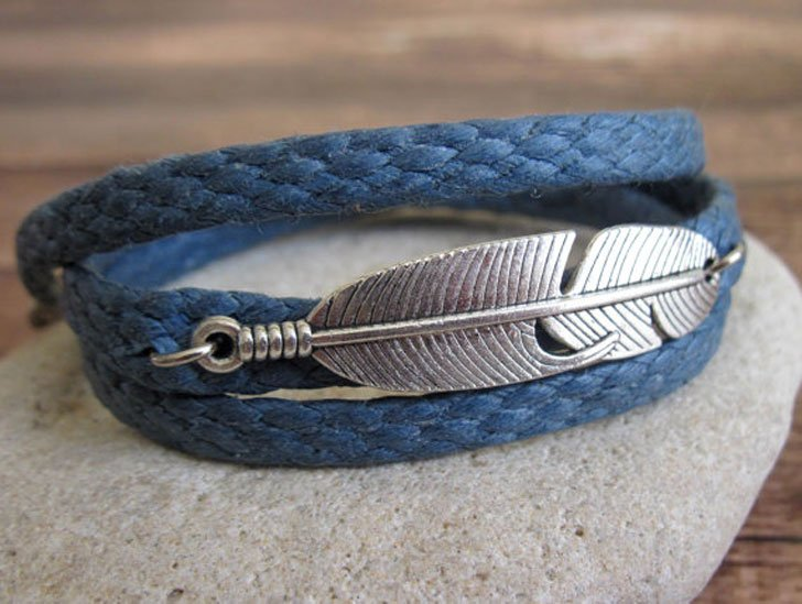 Men's Feather Bracelet