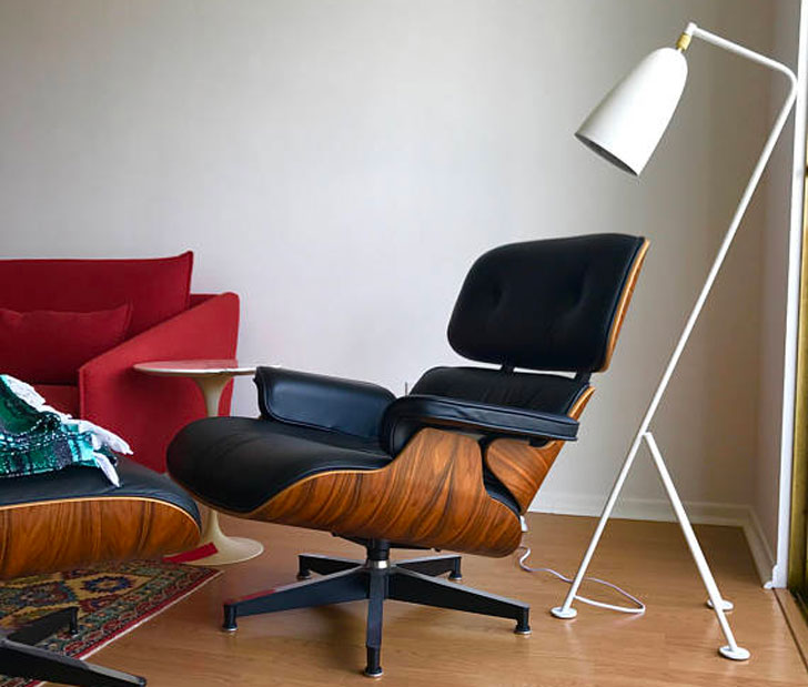 Mid Century Modern Grasshopper Style Floor Lamp