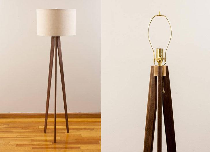Mid-Century Modern Tripod Floor Lamp