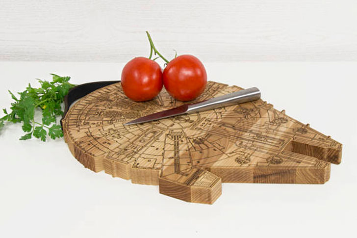 Millennium Falcon Cutting Board