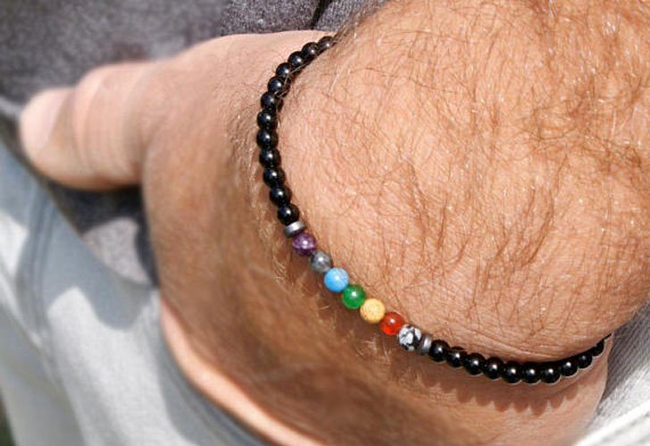Minimalist Rainbow Healing Bracelet