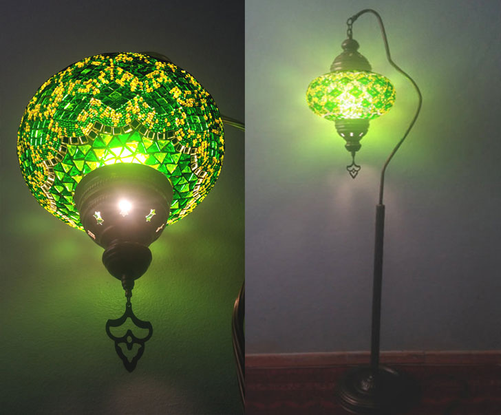 Mosaic Globe Lamp