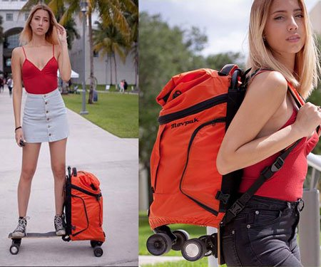 Motorized Backpack Skateboard