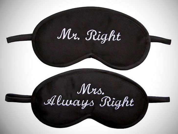Mr Right Mrs Always Right Sleep Masks