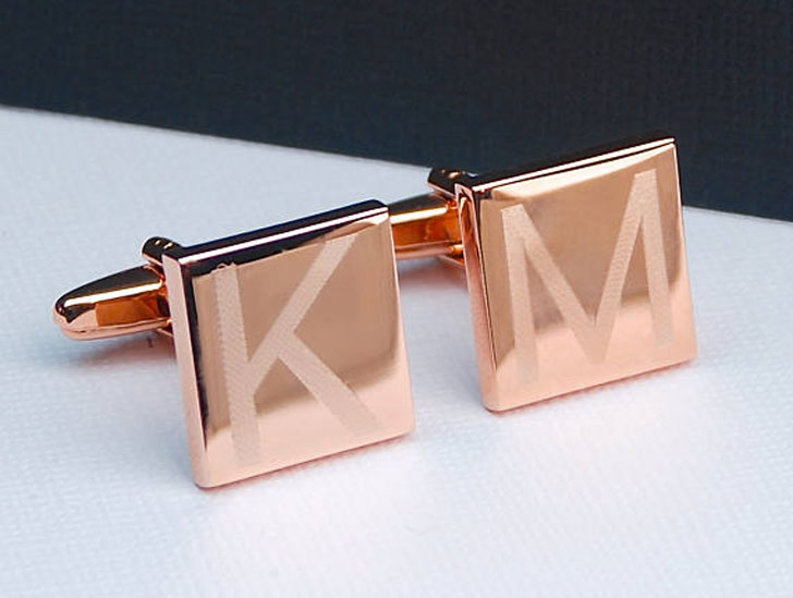 Personalised Engraved Rose Gold Cufflinks - cool cufflinks
