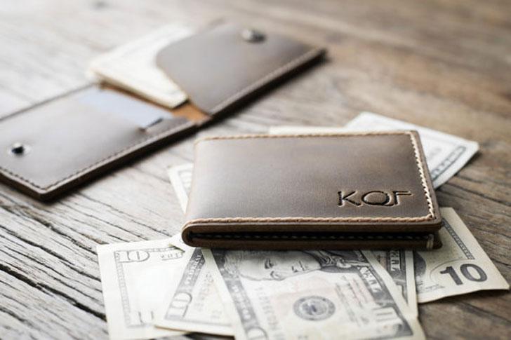 Personalised Ultra Slim Flip Top Wallet