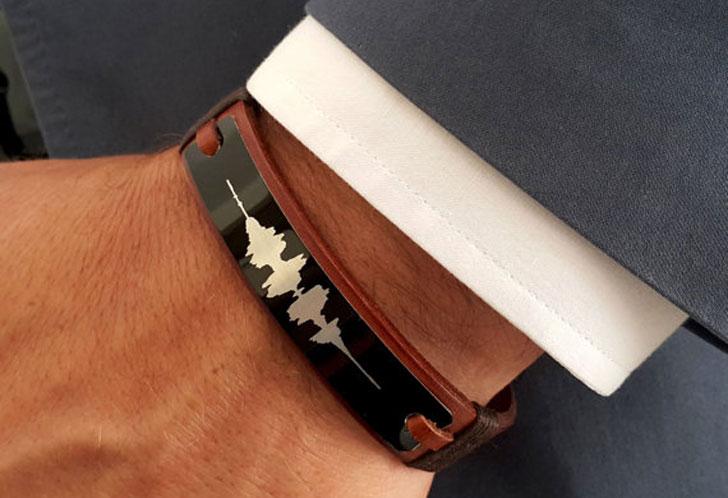 Personalized Soundwave Bracelets