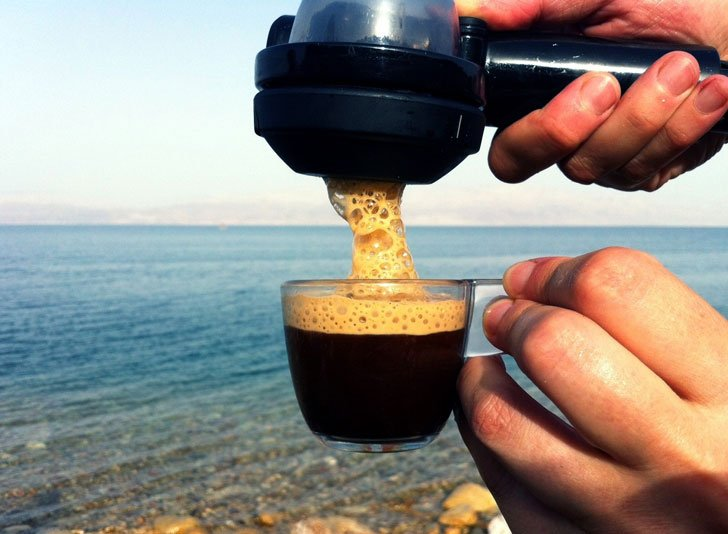 Portable Hand-Held Espresso Machine