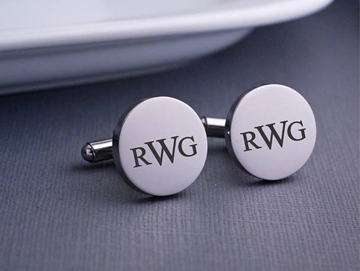 Quality Stylish Personalised Monogram Cufflinks