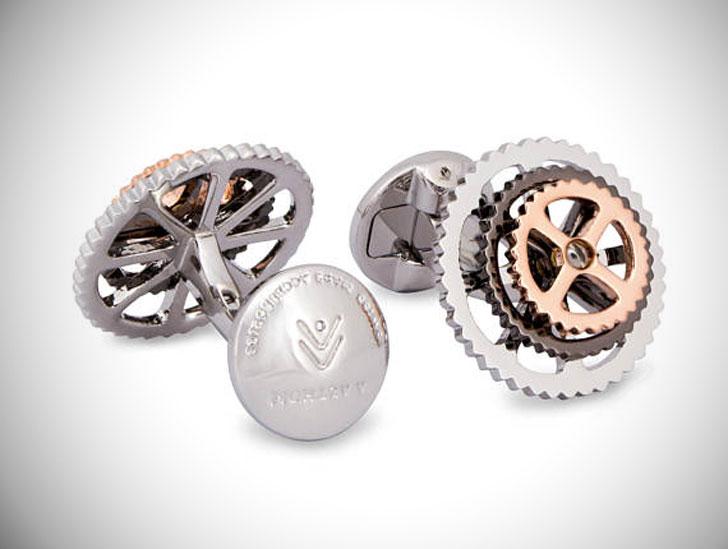 Rotatable Bike Gear Cufflinks