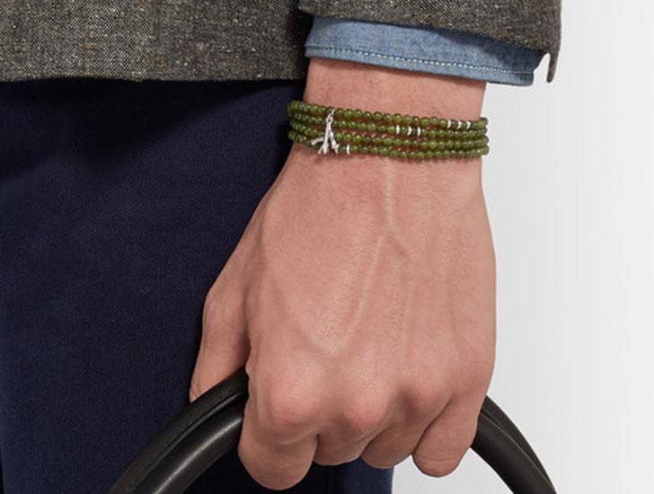 Saracino Jade Silver Wrap Bracelet