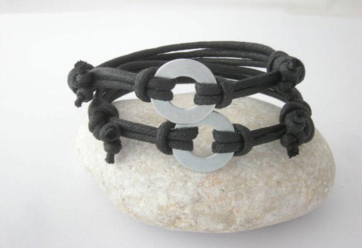 Secret Message Washer Bracelets for Him & Her